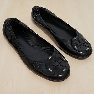 Tory Burch Ballet Flats patent leather Black 9.5